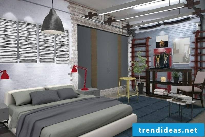 Bedroom set up modern design Scandinavian