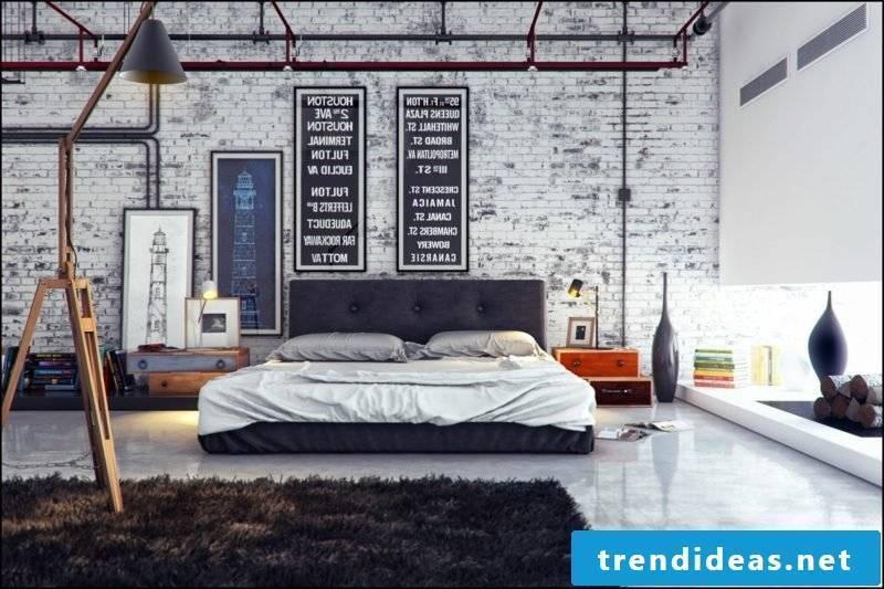 Bedroom set up industrial urban flair