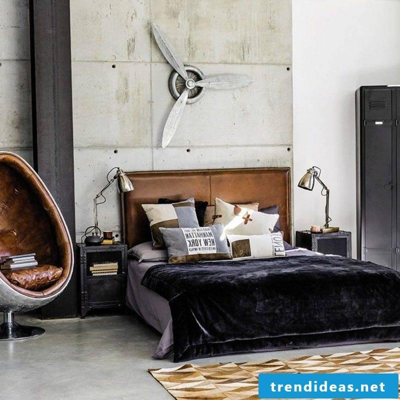 Bedroom industrial style breathtakingly modern