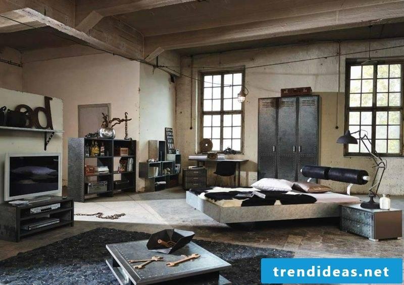 Bedroom set up modern ideas industrial style