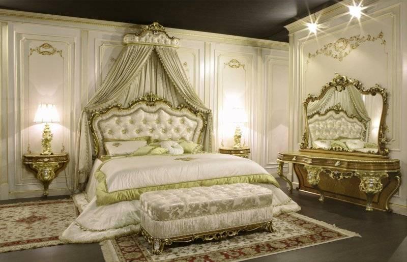 Bedroom set up Baroque style unique look