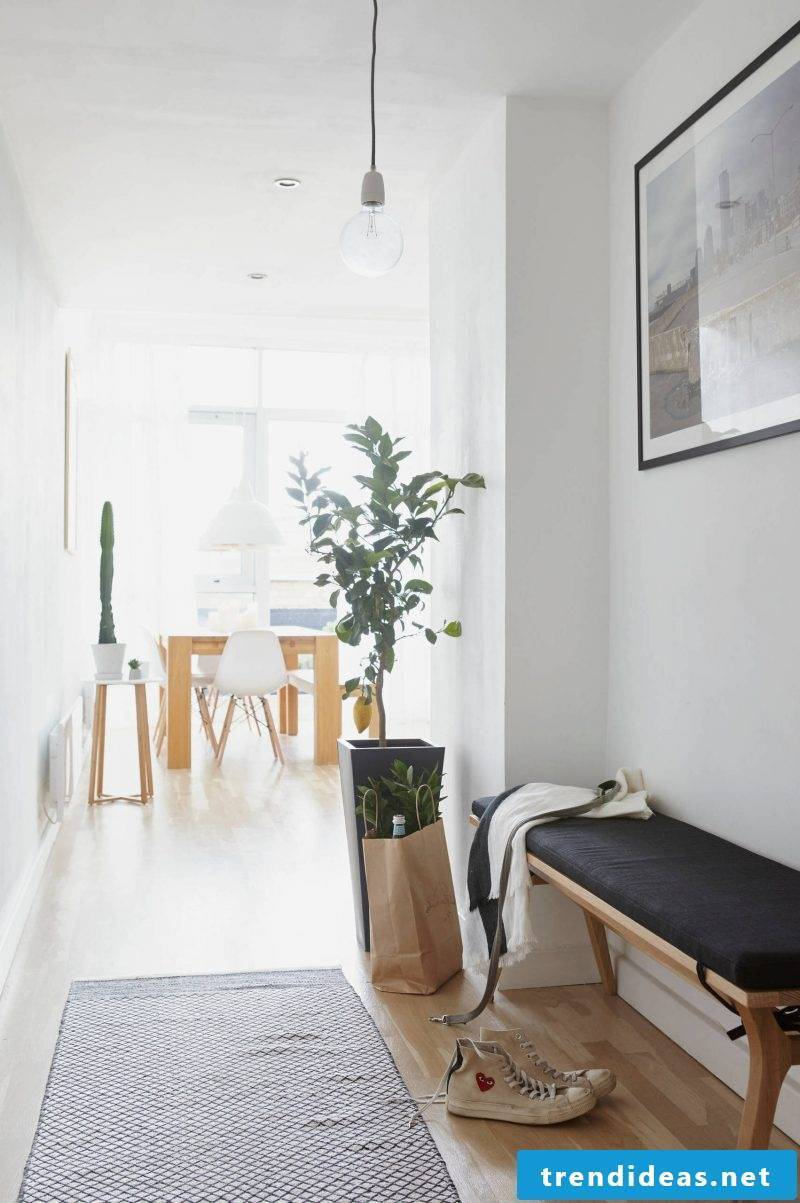 Bench for the corridor in the Scandinavian style of living