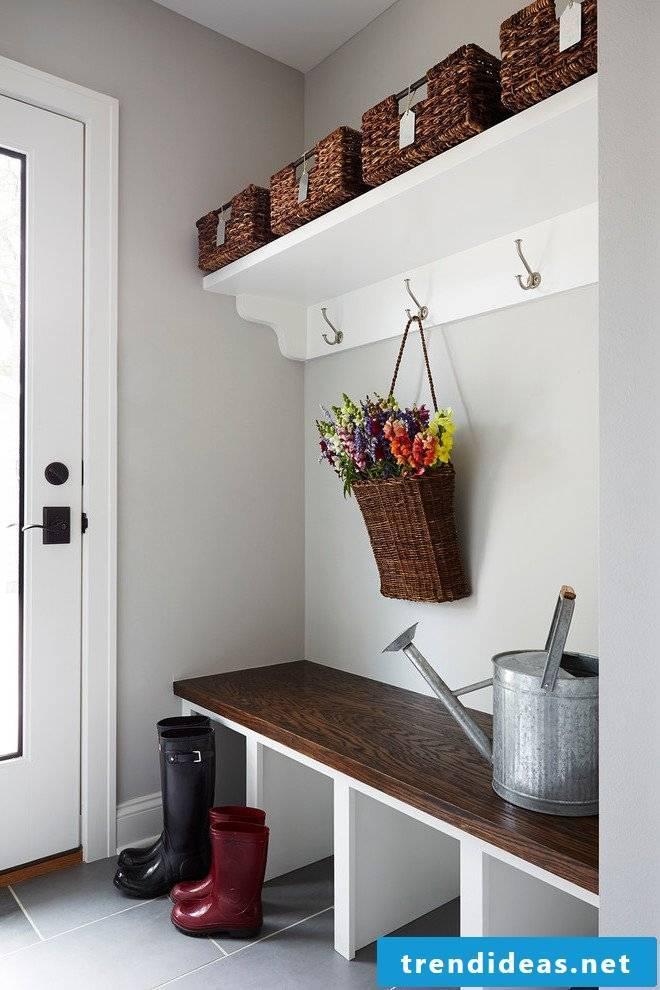 Bench hallway solid wood