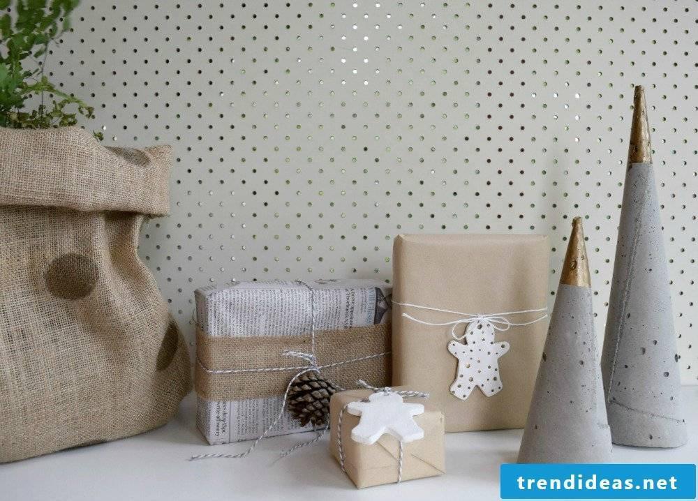 Concrete decoration Christmas