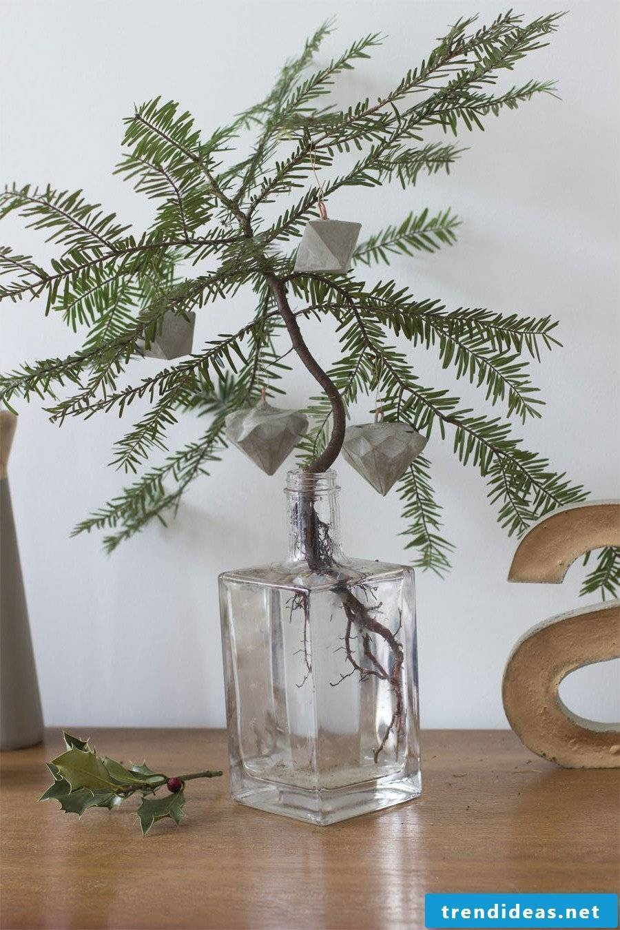Concrete decoration Christmas tree decorations