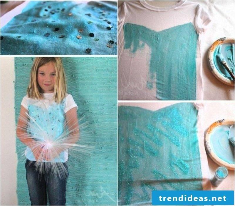 DIY ideas children's self print T-shirts