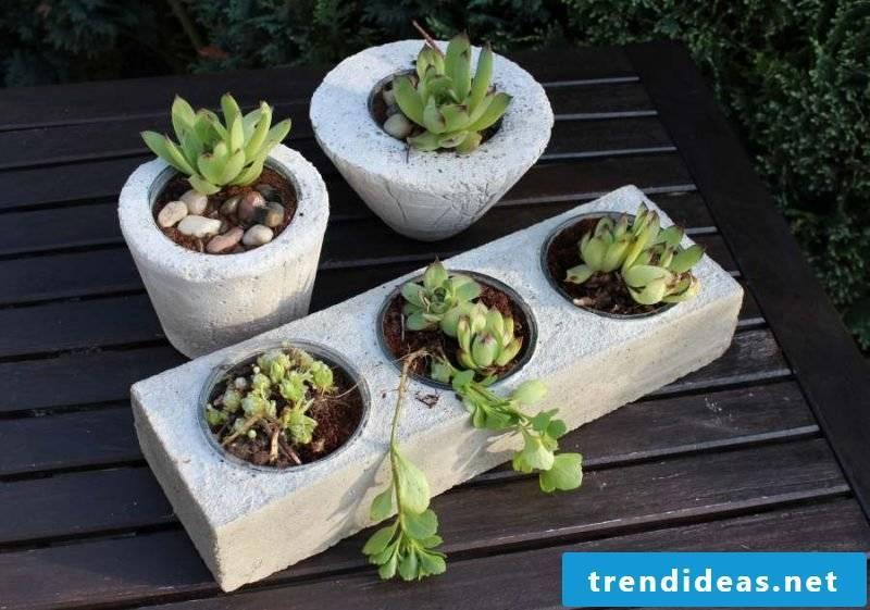 planting cubic concrete