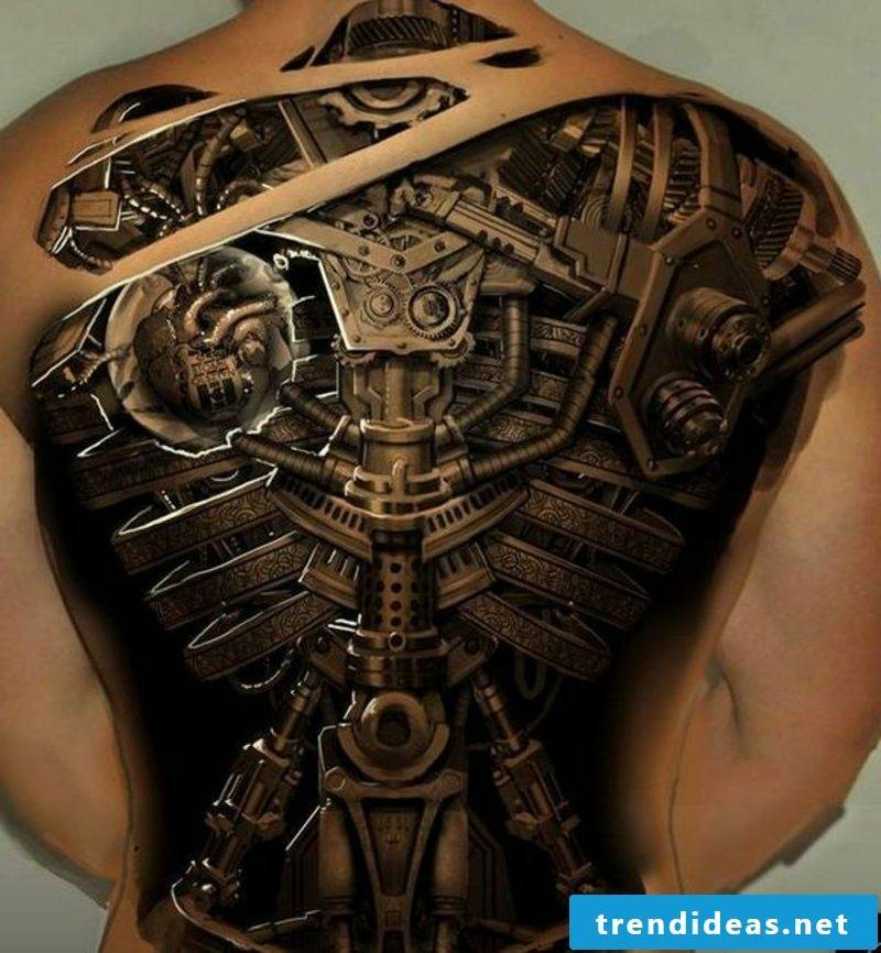 biomechanical tattoos man