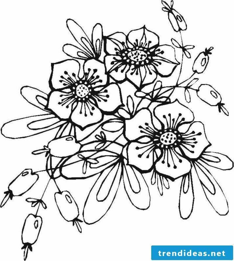interesting Tattoovorlage flower tendrils