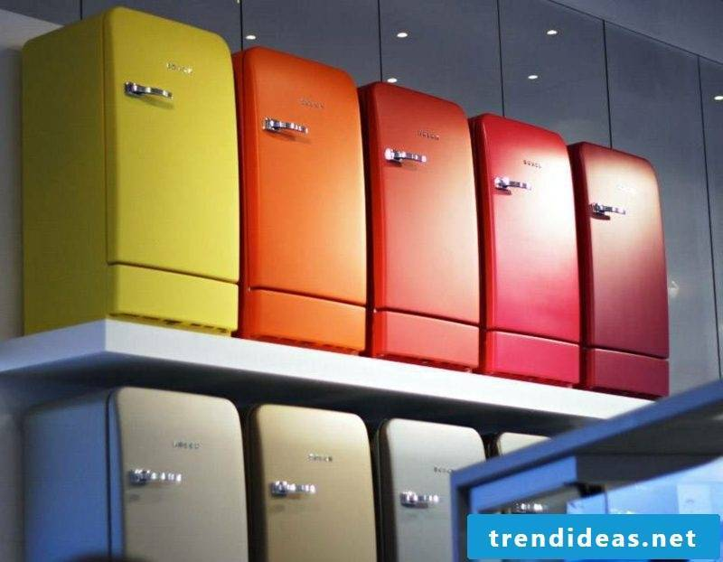 Retro refrigerator Bosch variety of different colors and nuances