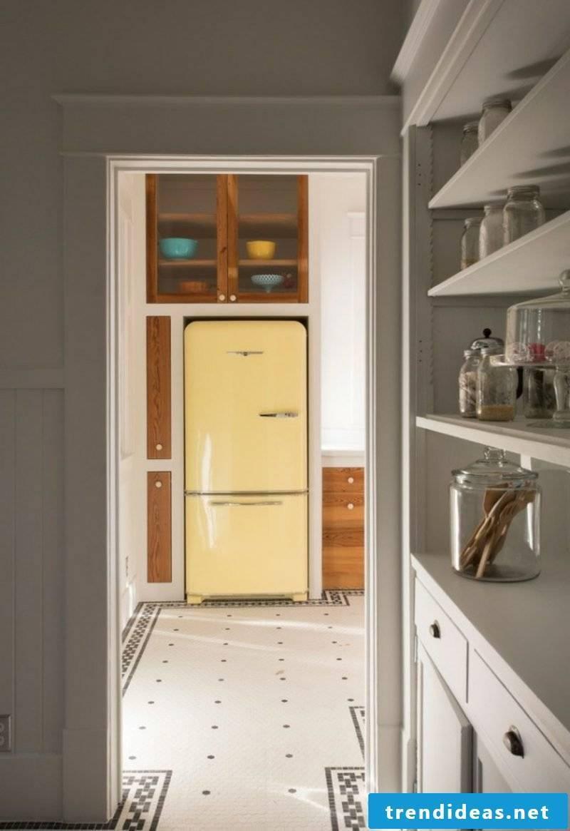 Bosch Retro refrigerator original color scheme light yellow