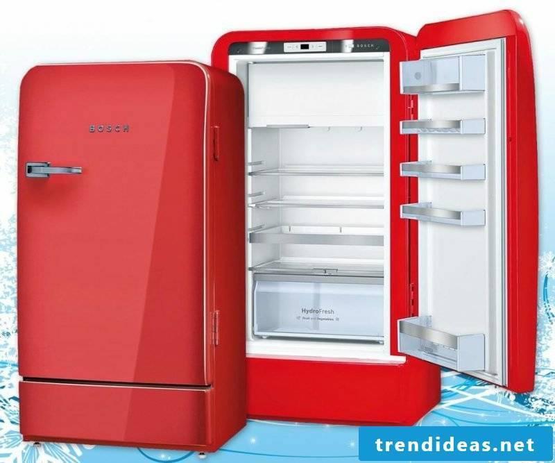 Bosch retro refrigerator red