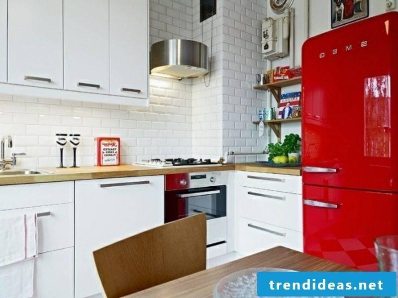 gorgeous Bosch retro fridge color red
