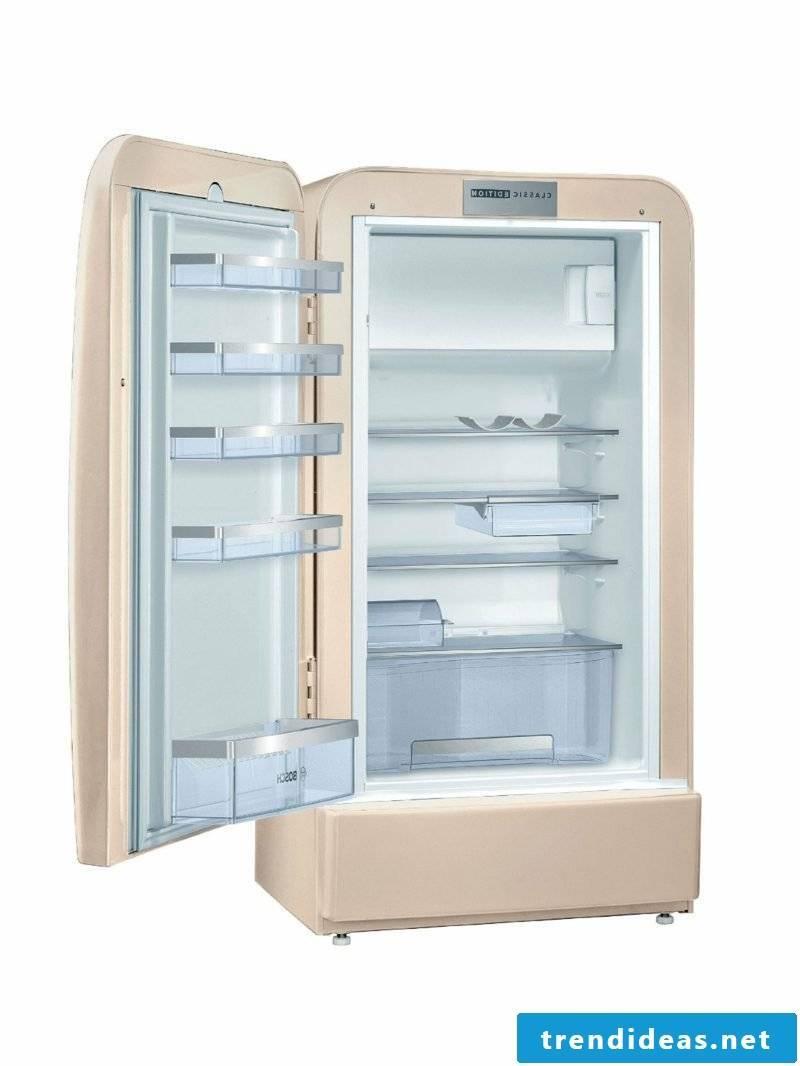 Bosch Retro refrigerator pink interior modern