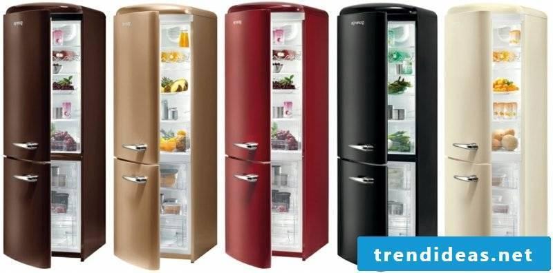 Bosch retro refrigerator large different models color scheme