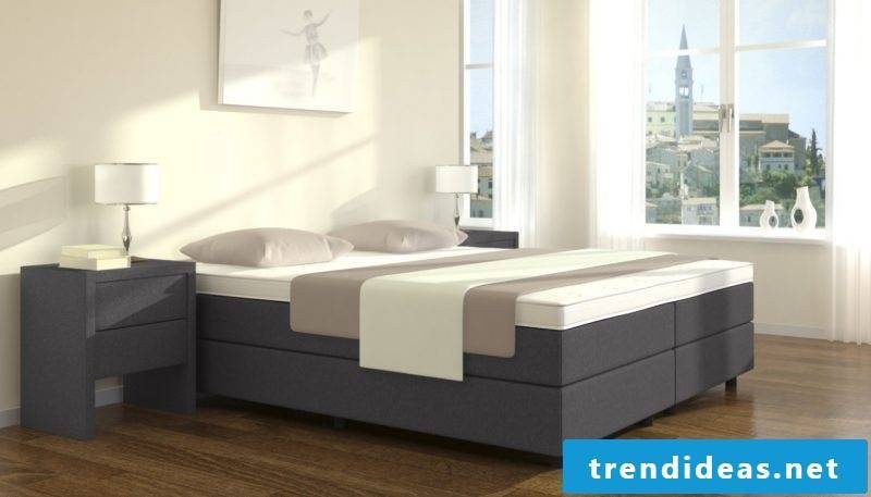 Box spring beds without headboard
