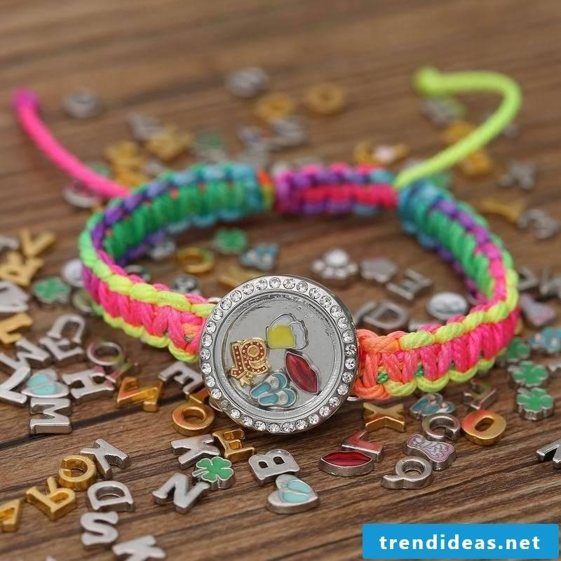 bracelets braiding colorful