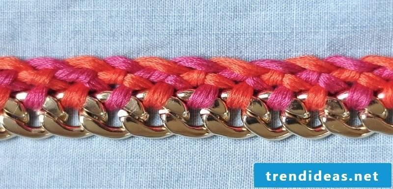 Bracelets braid pink
