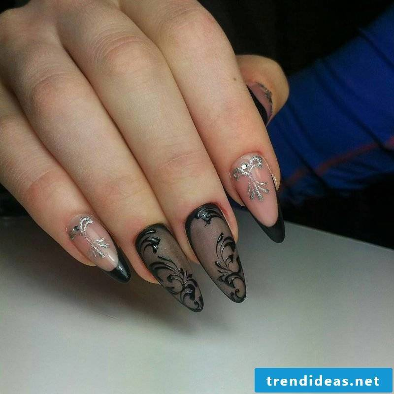 Fingernail Design Black