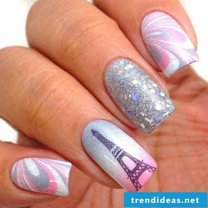 Fingernail design Paris