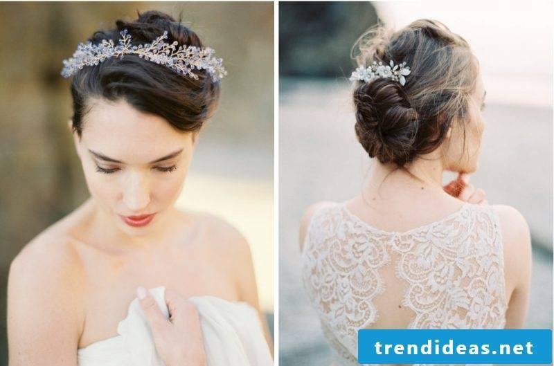 Bridal hair jewelry romantic