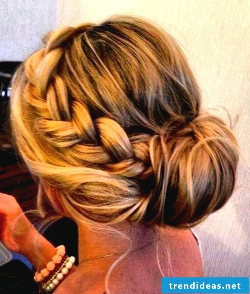 Bridesmaids hairstyles braided hair uplifted hair elegant look