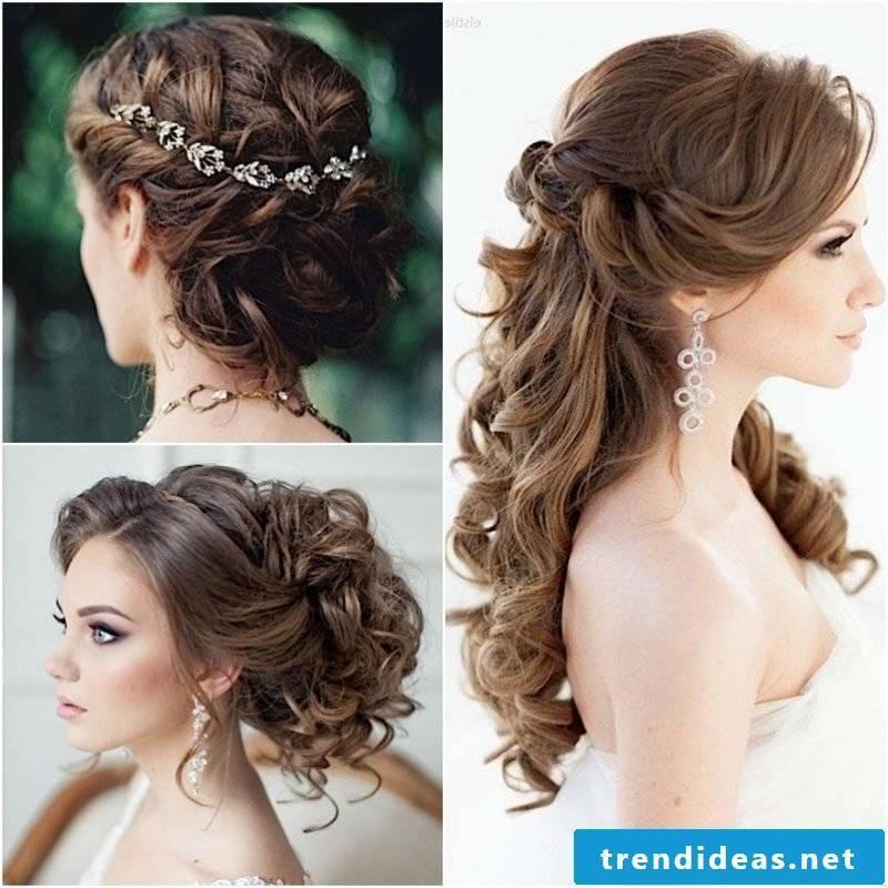 elegant wedding hairstyles creative ideas bridesmaids curly hairstyle