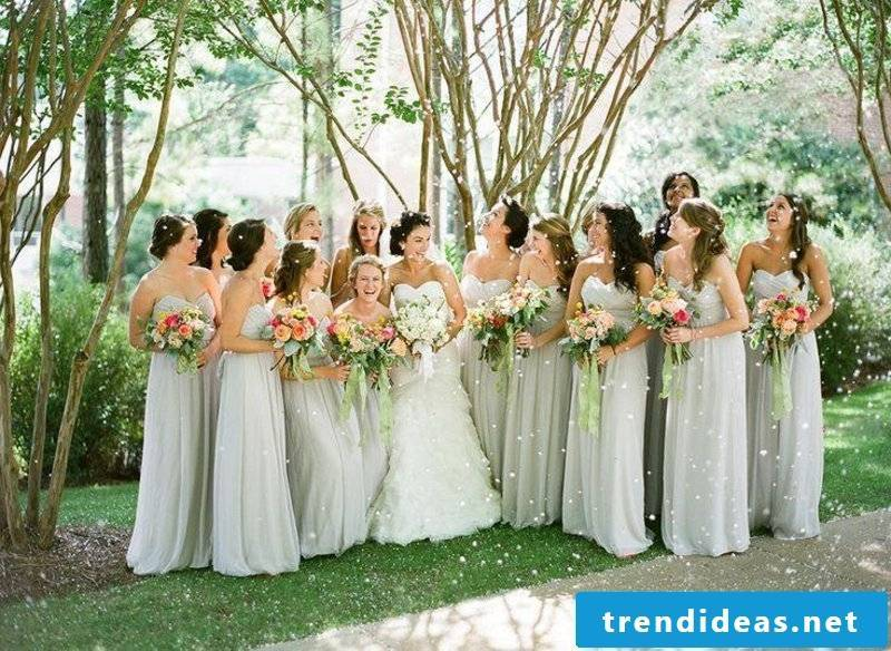 Wedding hairstyles Creative ideas for the bridesmaids
