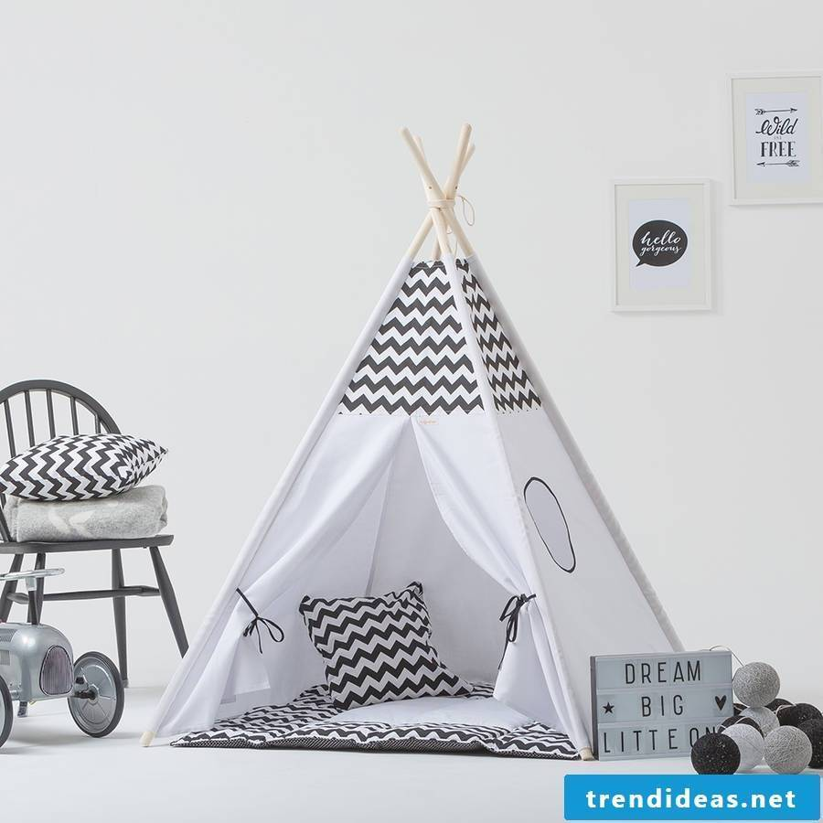 Sewing ideas for beginners - learn how to sew a teepee tent yourself.