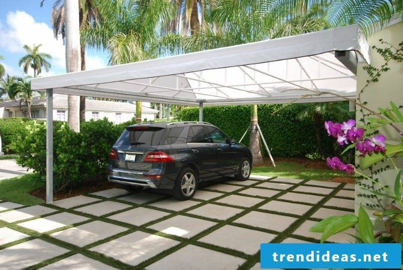 Carport itself build stable substructure