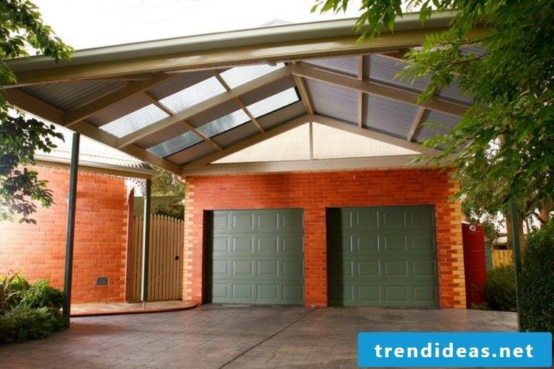 Carport itself build pitched roof two cars