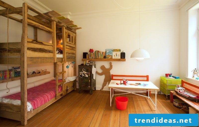 Loft bed build your own bed of solid wood