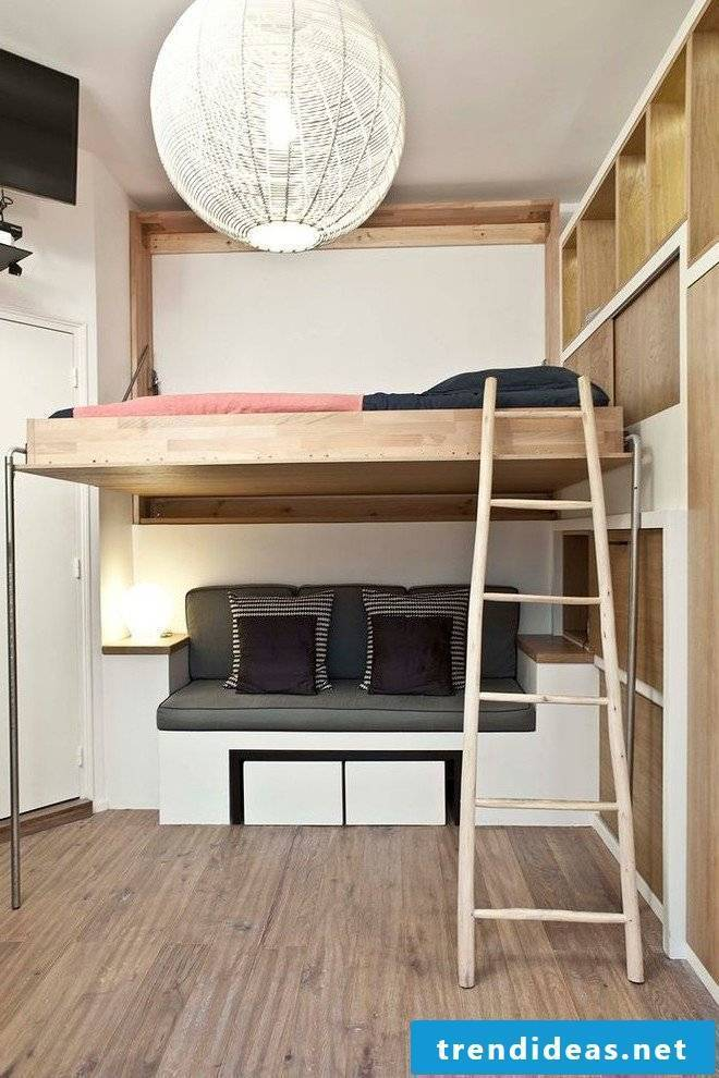 Loft bed build your own solid wood bed 180x200