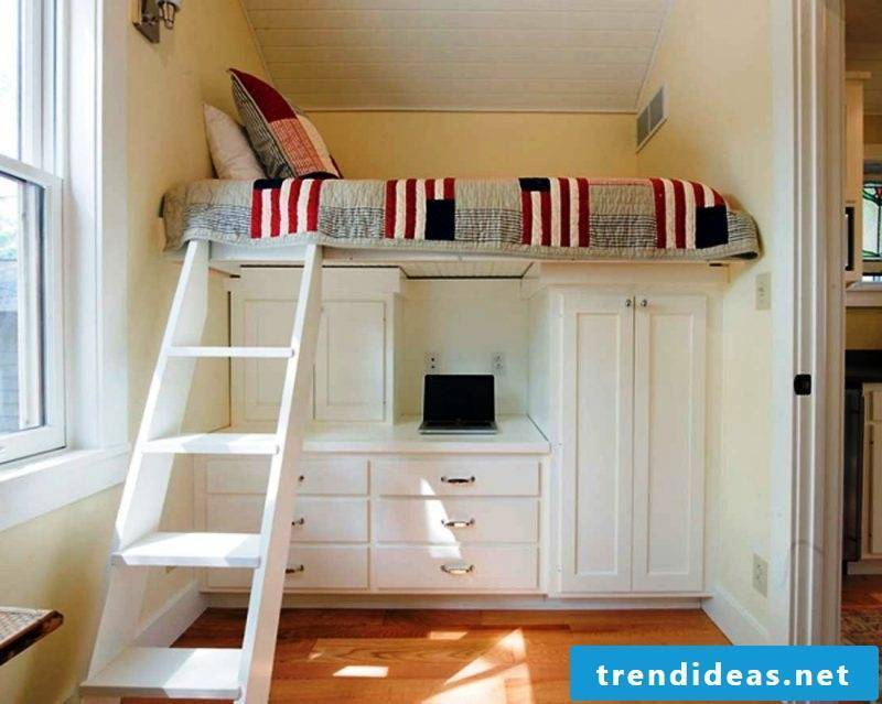 Storage room bed saves space