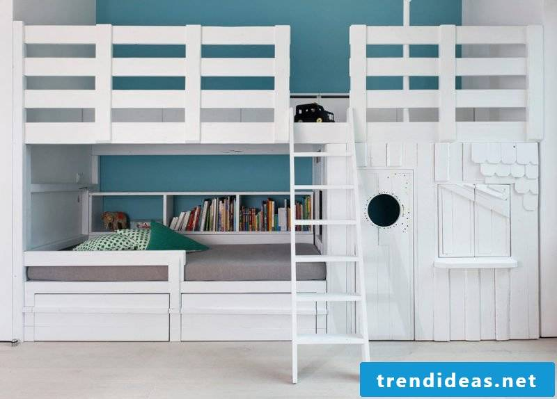 Loft bed for adults and children