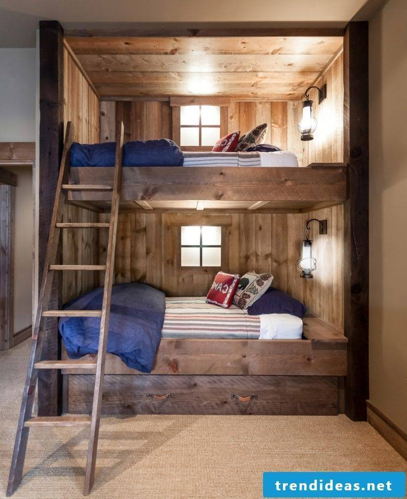 Bunk bed build yourself from solid wood