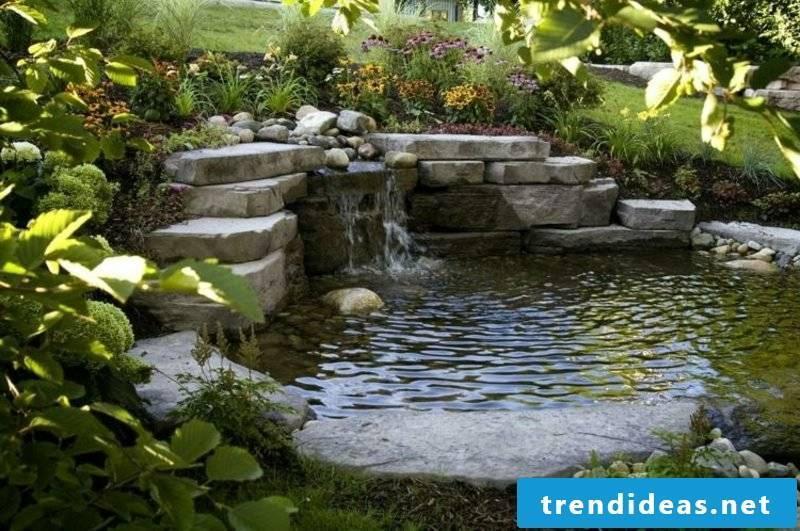 Stream and garden pond