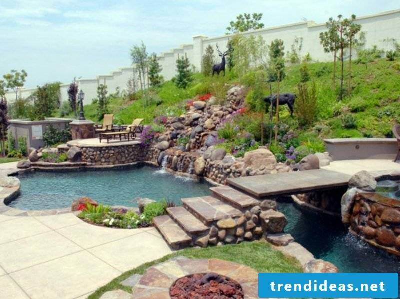Creek and garden pond creative ideas garden design