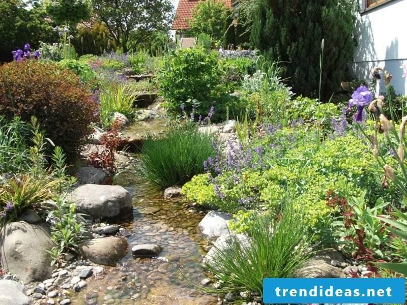 Garden design fantastic stream