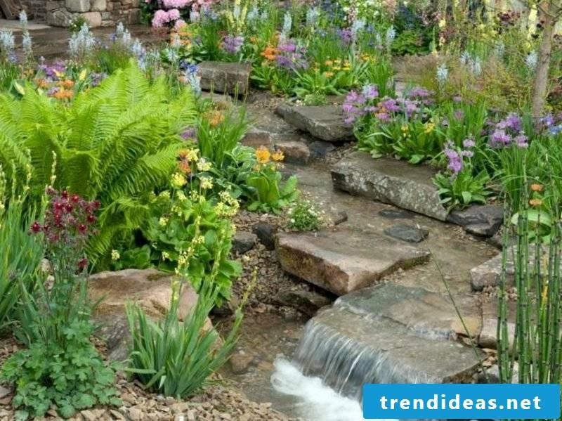 creative garden design creek