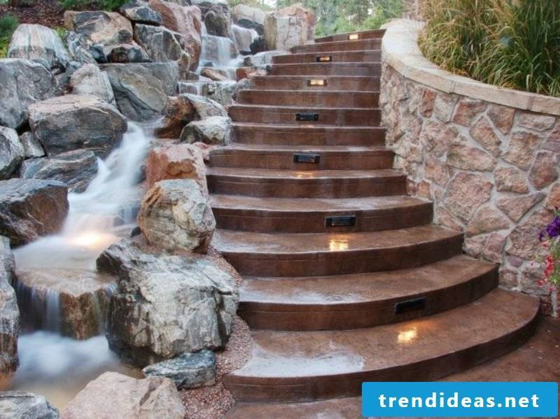original ideas stairs and creek next to each other