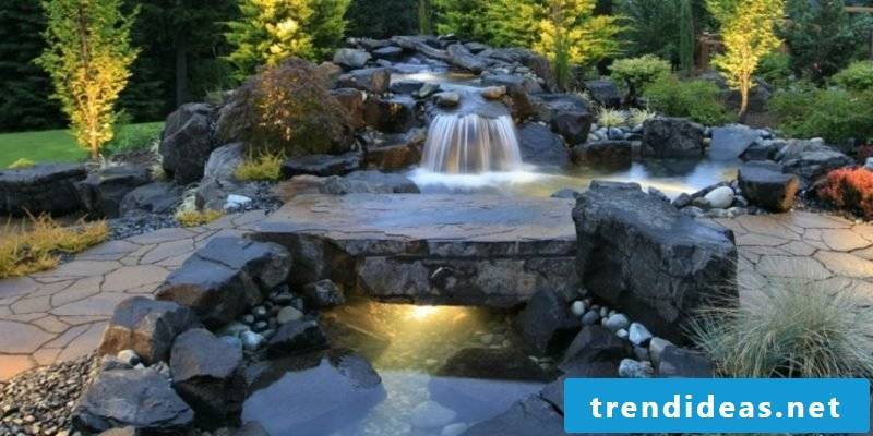 Creek with waterfall natural look