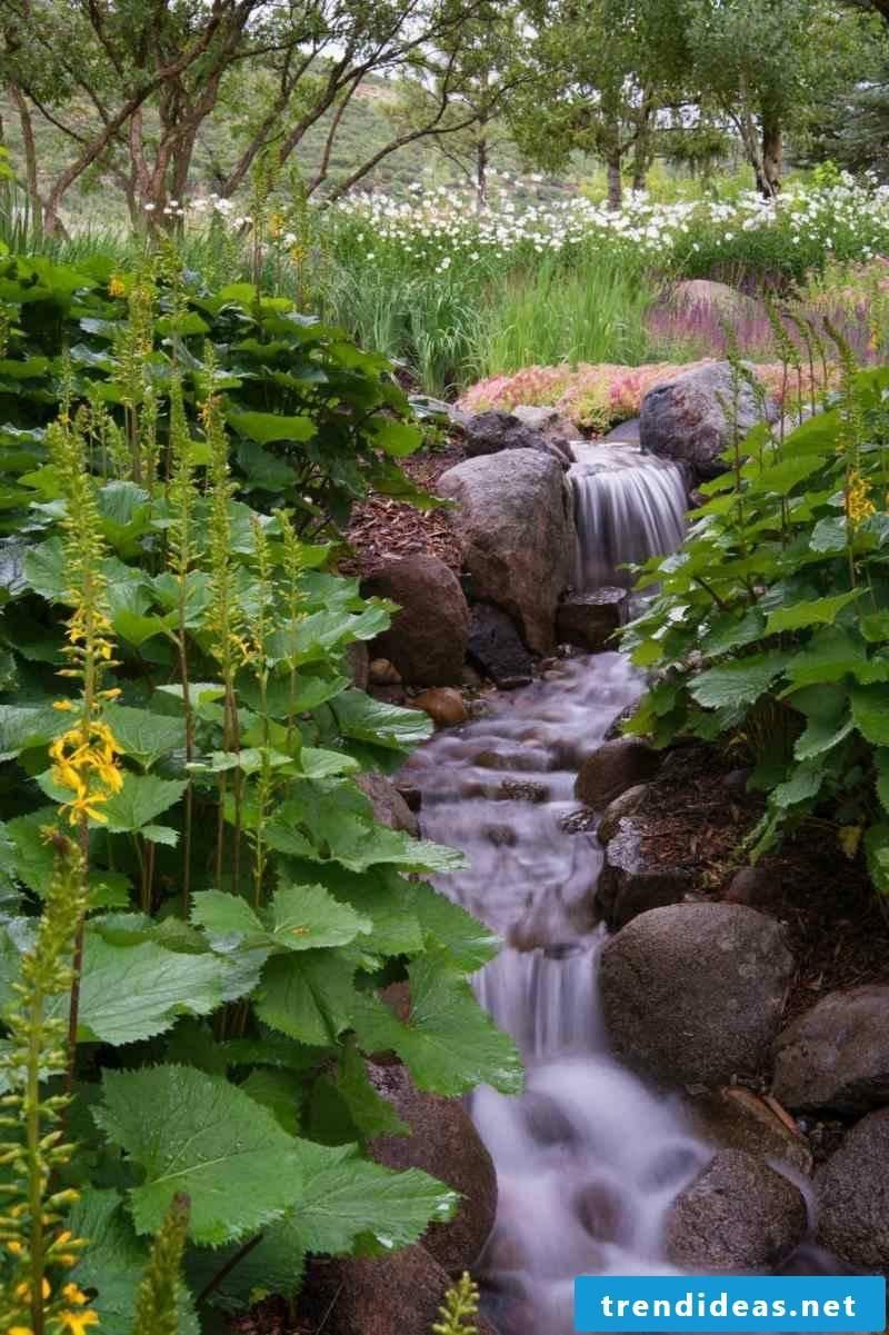 Create stream yourself Garden landscaping