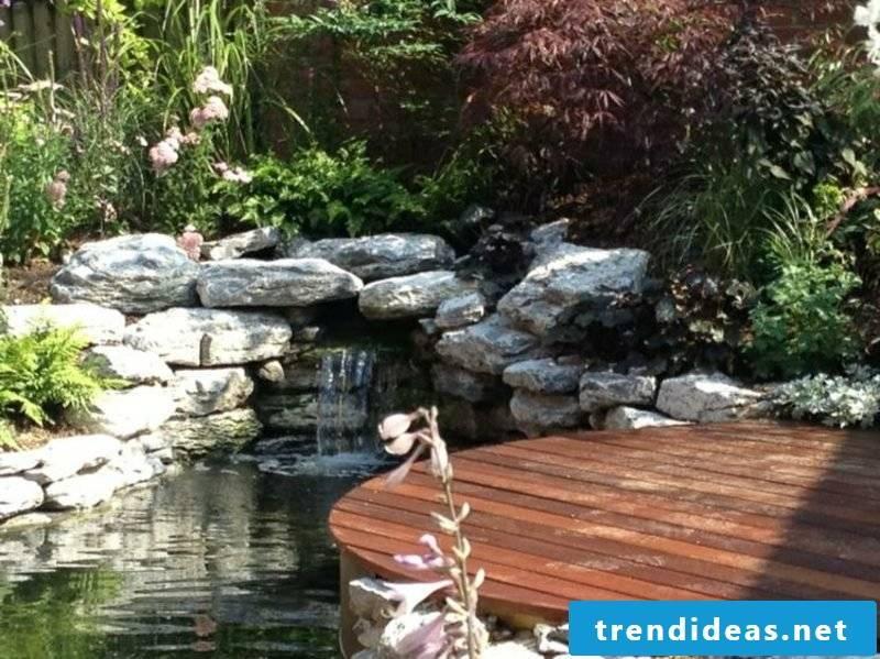 Stream and decorative garden pond