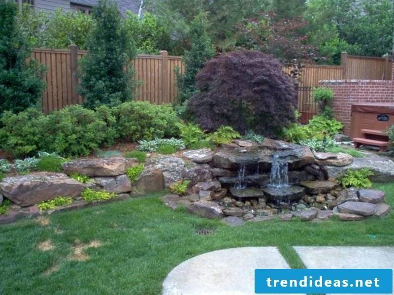 Garden design ideas stream running