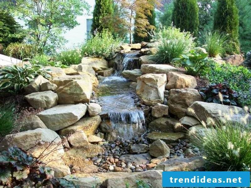 The stream is an eye-catcher in the garden