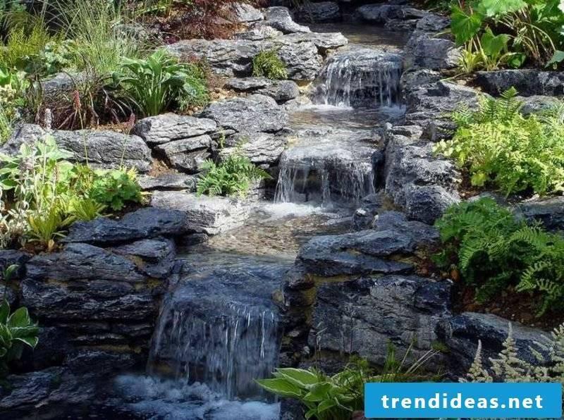 Creek waterfall garden creative design ideas