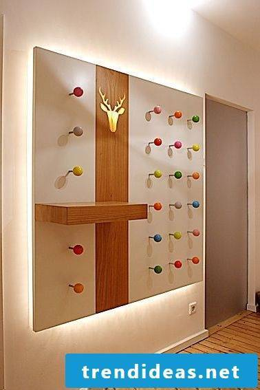 Illuminated wardrobe with color balls