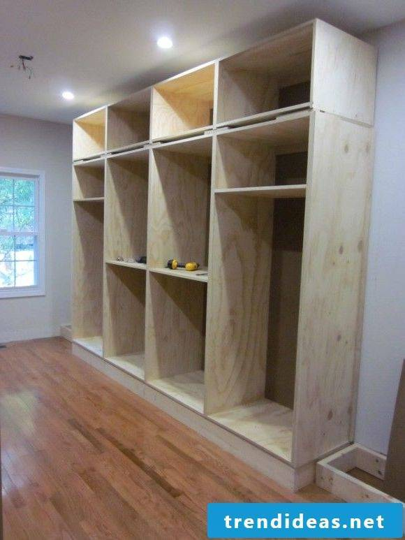 Build a built-in wardrobe yourself