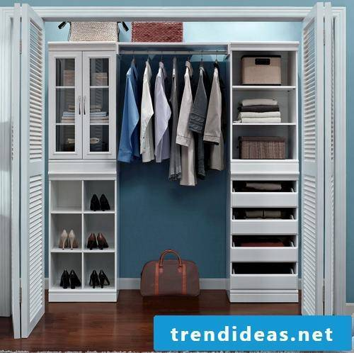 Built-in wardrobe itself for more order and comfort